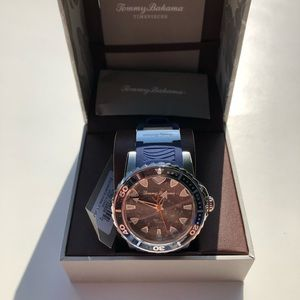 Tommy Bahama Watch Navy Blue Silicone Strap